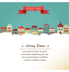 Vintage Xmas greeting card and background with vector image vector image