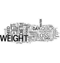 what can a quick weight loss diet do for me text vector image