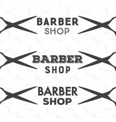 barber shop bage vector image