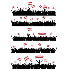Cheering or Protesting Crowd Austria vector image vector image
