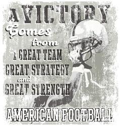 football victory vector image