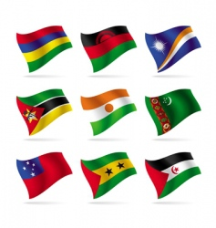 set of world flags 13 vector image vector image