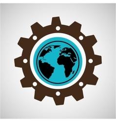 symbol environment gear global vector image vector image