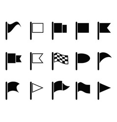 black flag icons vector image vector image