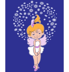 Christmas sittingl star vector image vector image