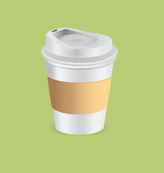 Cup paper coffee vector