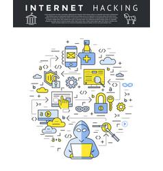 digital blue internet security data vector image