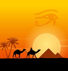 Egypt symbols and Pyramids vector image vector image
