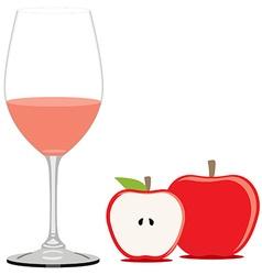 Red apple juice vector image