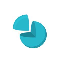 sphere cut logo logo geometric abstract logo on vector image vector image