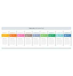 9 data infographics tab index template with thin vector
