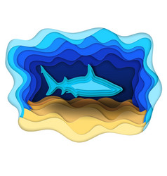 a formidable shark on the hunt vector image