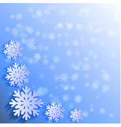 abctract background white papercut snowflakes vector image