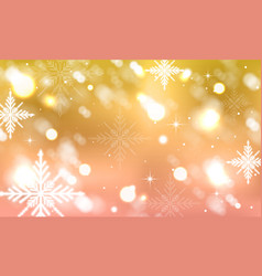 Abstract blurred background with winter design vector