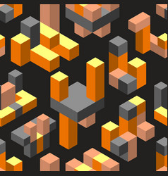 abstract isometric geometric vector image
