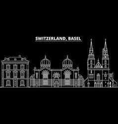 basel silhouette skyline switzerland - basel vector image
