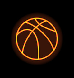 basketball orange silhouette vector image