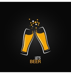 beer glass drink splash design background vector image