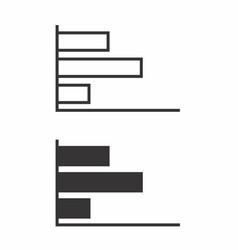 black and white bar charts vector image