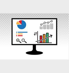 Business financial analytics bar chart graphs vector