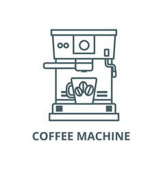 coffee machine with cup line icon coffee vector image
