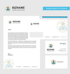 confused man business letterhead envelope and vector image