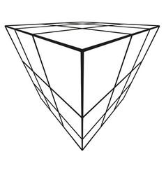 Cube stencil wall art illusion vector