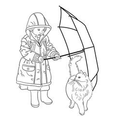 cute kid drawing vector image