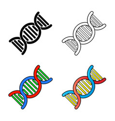 dna symbol design isolated on white background vector image