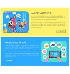 Family financial plan web vector