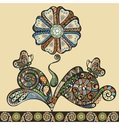 fantasy flower pattern vector image