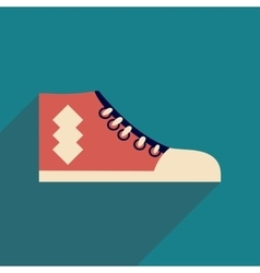 Flat icon with long shadow casual gumshoes vector