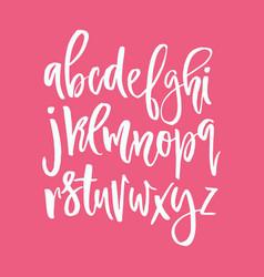 handdrawn calligraphic alphabet vector image