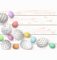 happy easter congratulatory easter white shabby vector image