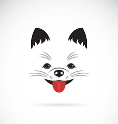 Image of an pomeranian dog vector