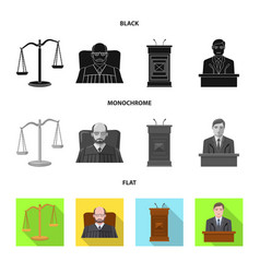 Isolated object of law and lawyer logo collection vector