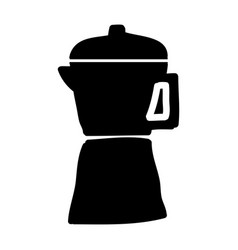 kettle silhouette isolated icon vector image