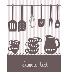kitchen menu design vector image