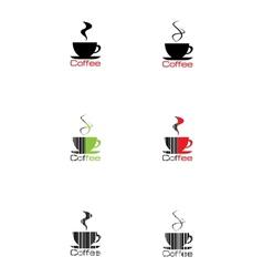 label coffee vector image