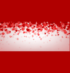 love valentines banner with hearts vector image