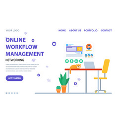 management online workflow website service vector image