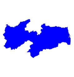 Map of paraiba vector