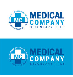 medical company logo and icon vector image