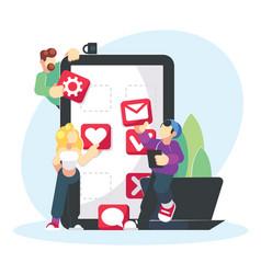 Mobile application development creative design vector