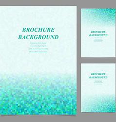 Modern geometric brochure template design vector