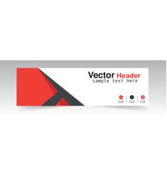 Modern red header design background image vector