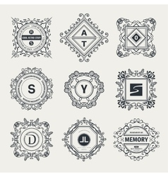 Monogram luxury logo vector