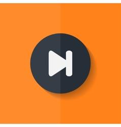 Next track web iconMedia player Flat design vector image