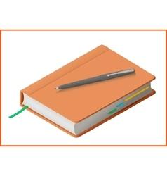 Notebook flat 3d vector