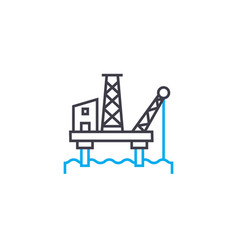 offshore oil industry linear icon concept vector image